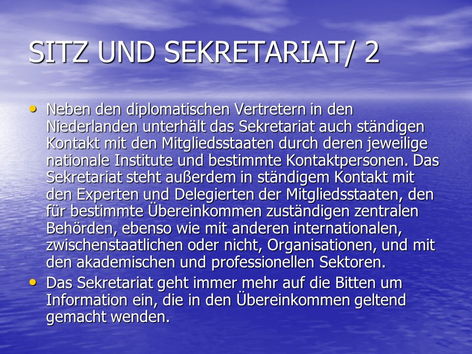 SITZ UND SEKRETARIAT/ 2