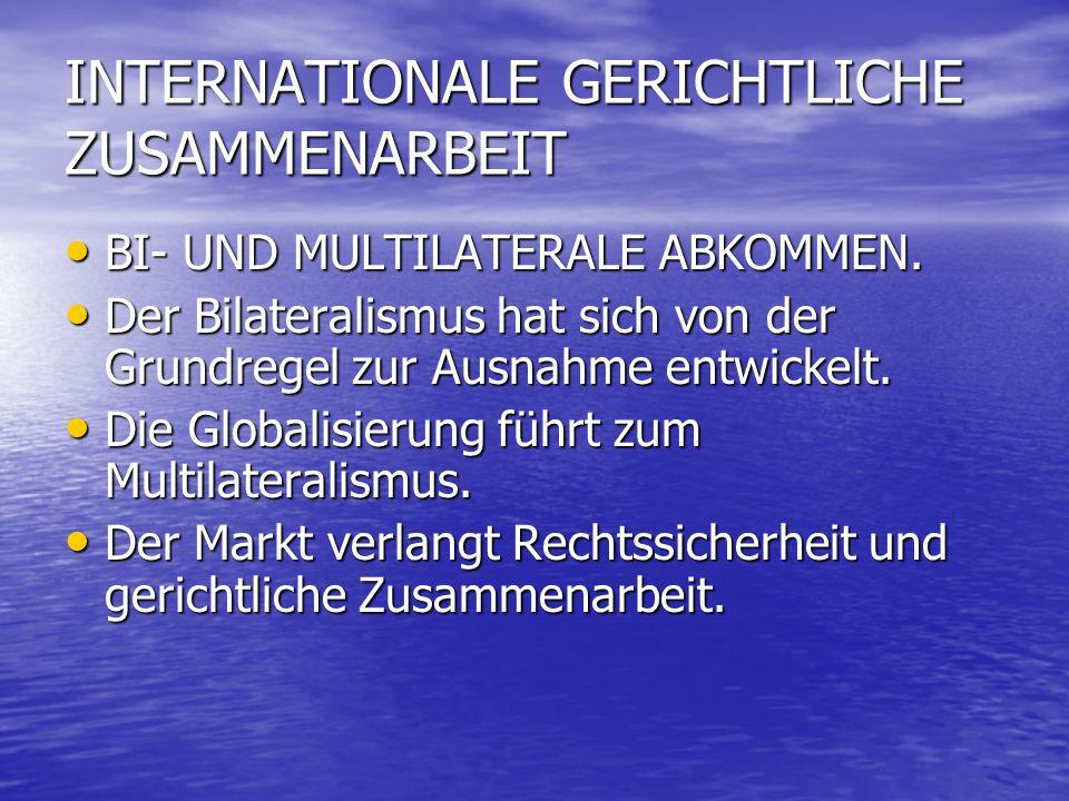 INTERNATIONALE GERICHTLICHE ZUSAMMENARBEIT