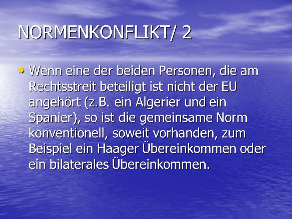 NORMENKONFLIKT/ 2