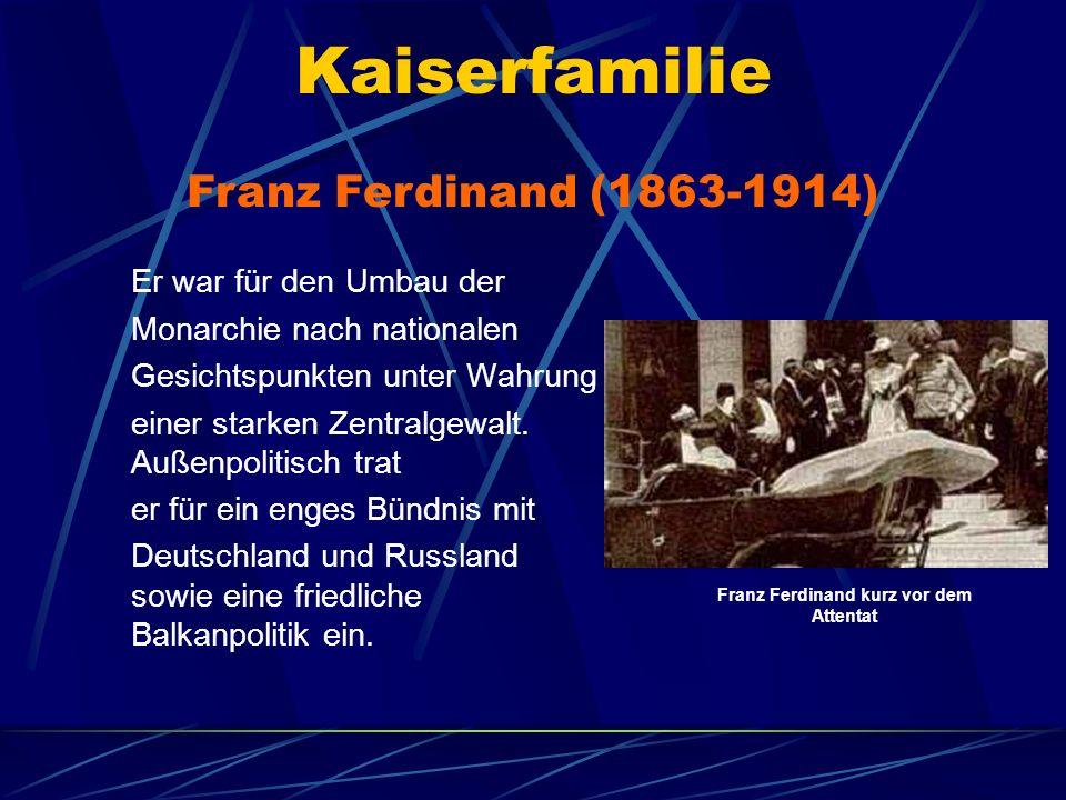 Franz Ferdinand kurz vor dem Attentat