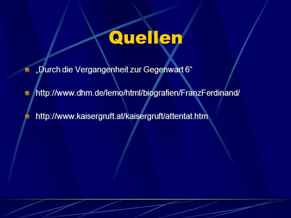 """Quellen """"Durch die Vergangenheit zur Gegenwart 6"""