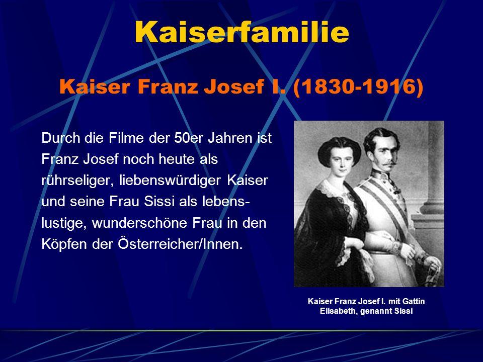 Kaiser Franz Josef I. mit Gattin Elisabeth, genannt Sissi