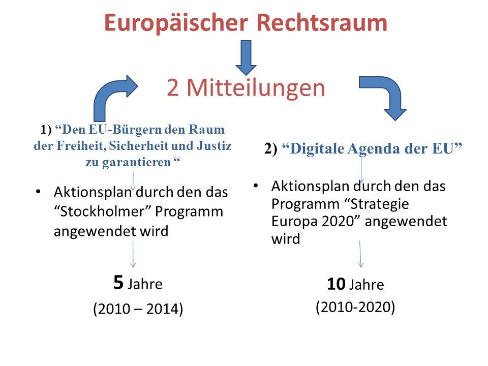 Europäischer Rechtsraum 2 Mitteilungen