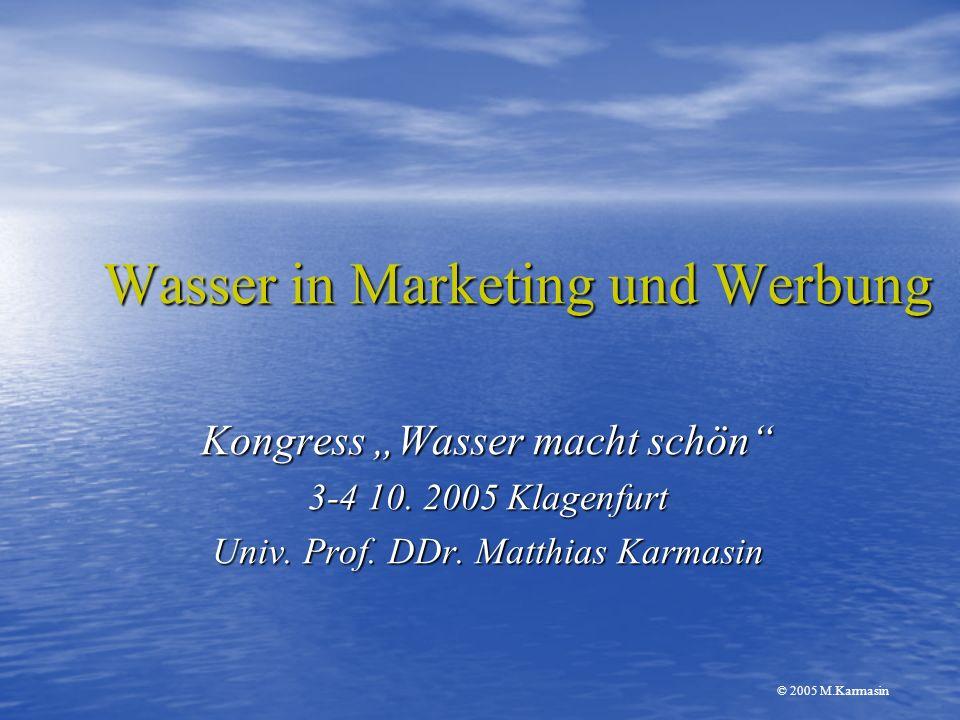 Wasser in Marketing und Werbung