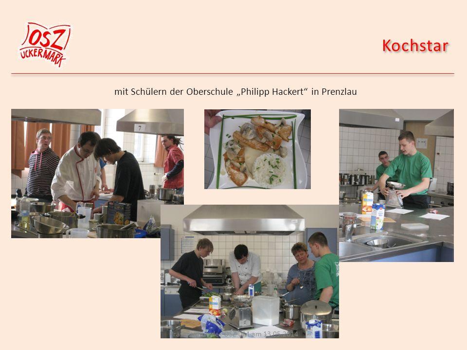 "Kochstar mit Schülern der Oberschule ""Philipp Hackert in Prenzlau"