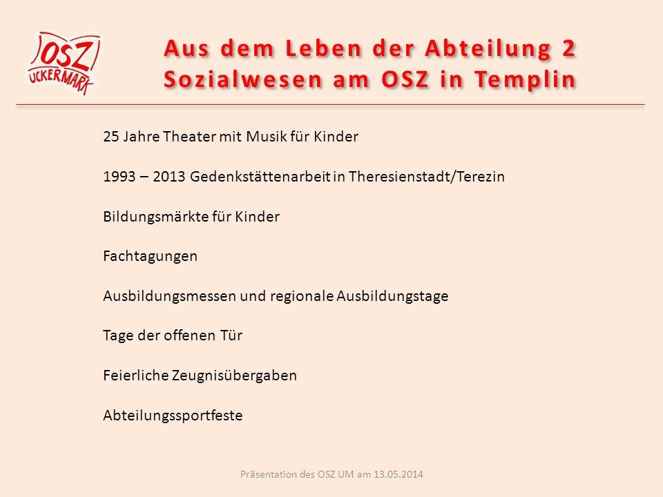 Aus dem Leben der Abteilung 2 Sozialwesen am OSZ in Templin