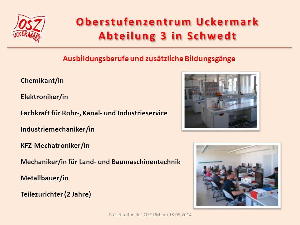 Oberstufenzentrum Uckermark Abteilung 3 in Schwedt