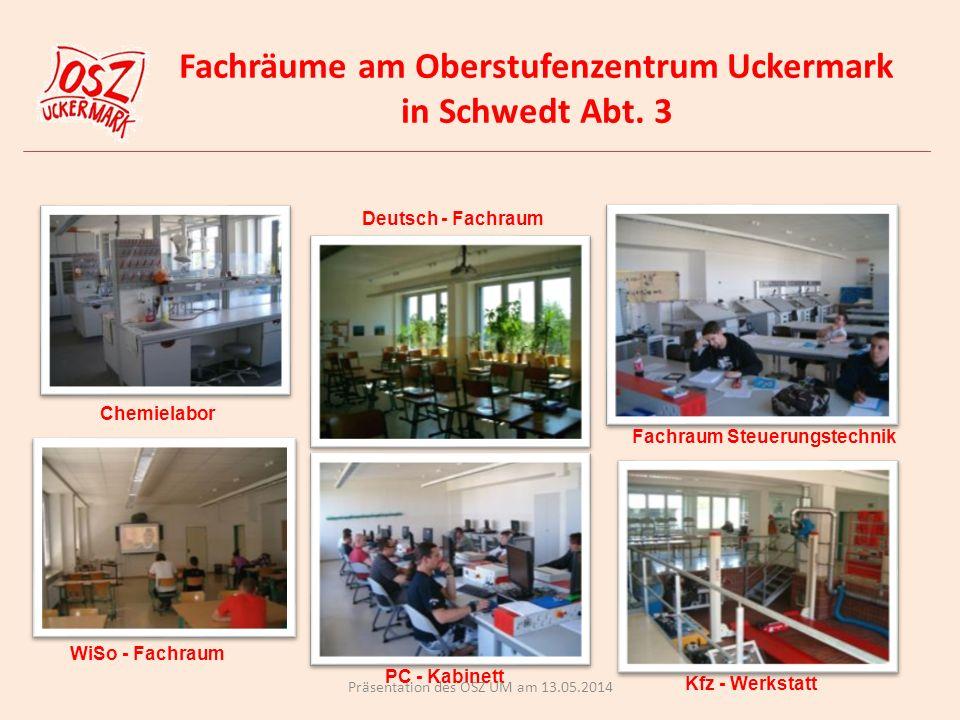 Fachräume am Oberstufenzentrum Uckermark in Schwedt Abt. 3