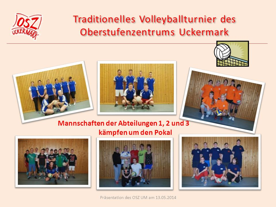 Traditionelles Volleyballturnier des Oberstufenzentrums Uckermark