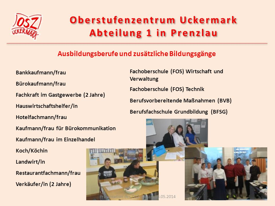 Oberstufenzentrum Uckermark Abteilung 1 in Prenzlau