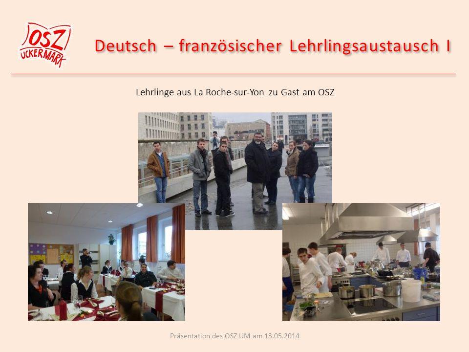 Deutsch – französischer Lehrlingsaustausch I