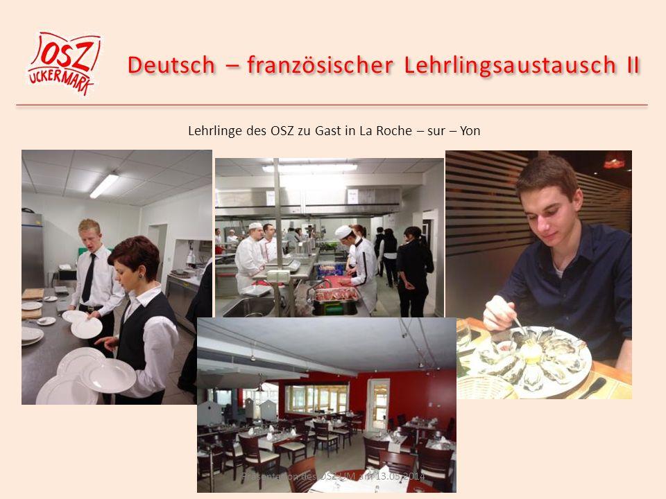 Deutsch – französischer Lehrlingsaustausch II