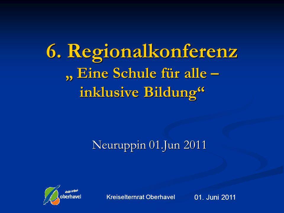 """6. Regionalkonferenz """" Eine Schule für alle – inklusive Bildung"""