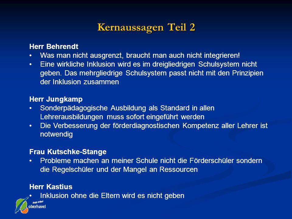 Kernaussagen Teil 2 Herr Behrendt