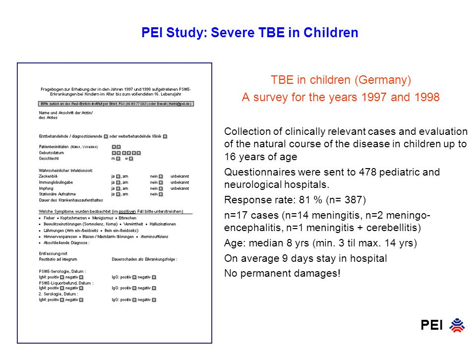 PEI Study: Severe TBE in Children