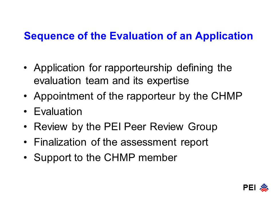 Sequence of the Evaluation of an Application