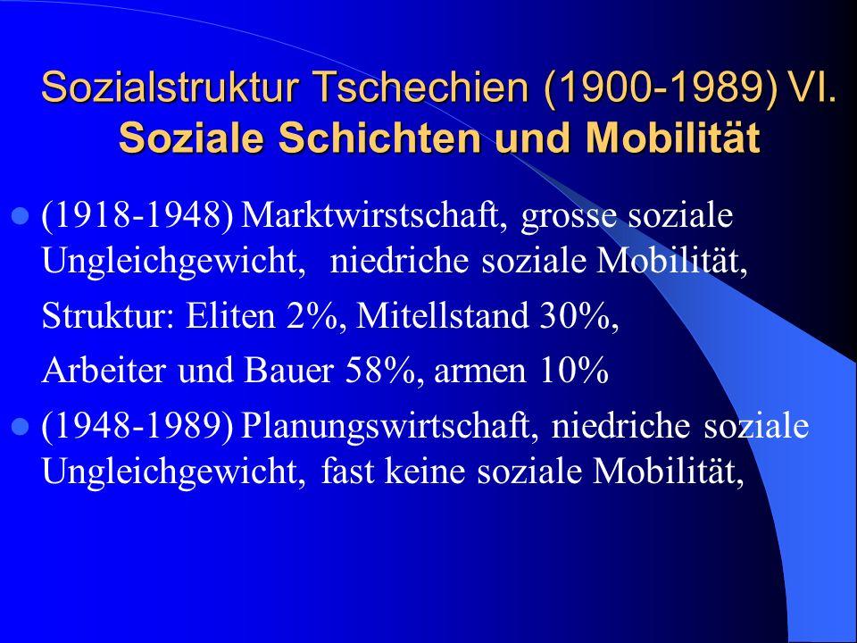 Sozialstruktur Tschechien (1900-1989) VI