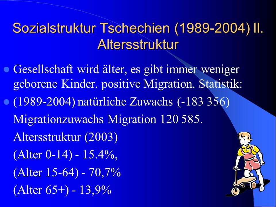 Sozialstruktur Tschechien (1989-2004) II. Altersstruktur