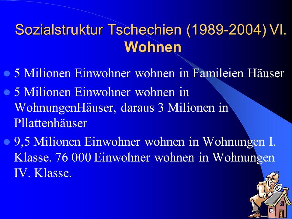 Sozialstruktur Tschechien (1989-2004) VI. Wohnen