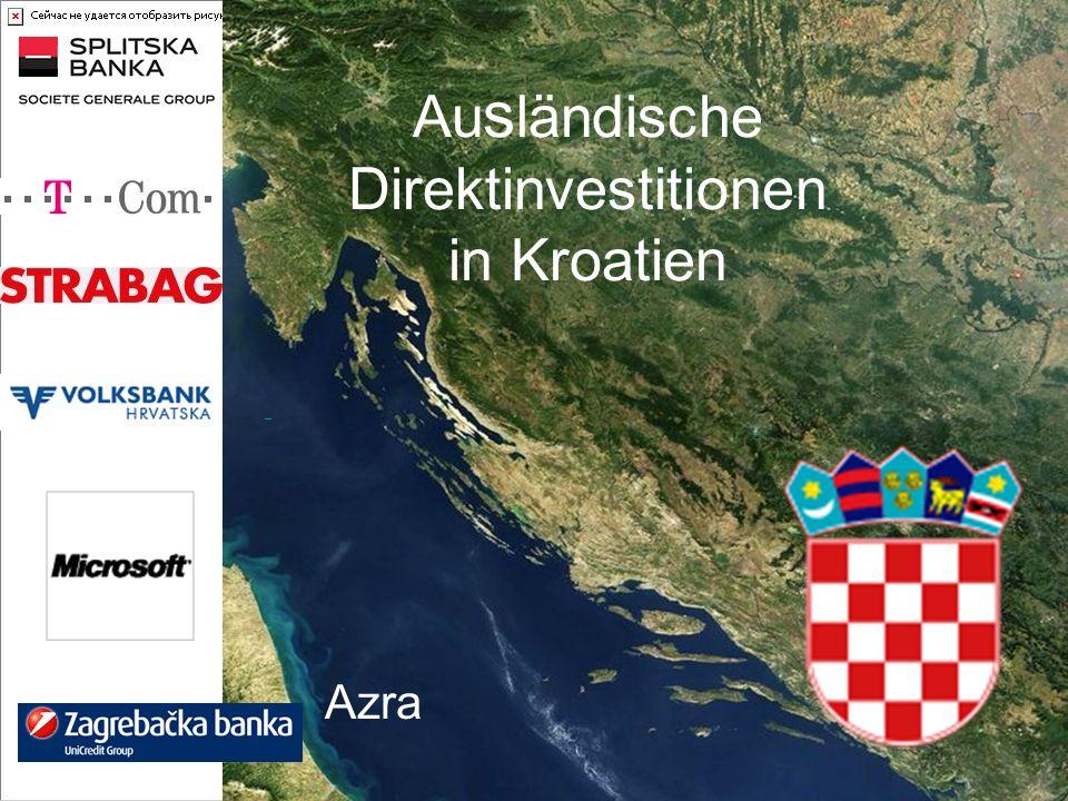 Ausländische Direktinvestitionen in Kroatien