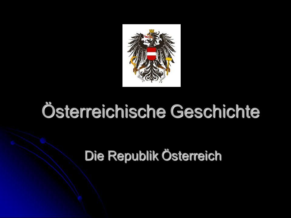 Österreichische Geschichte Die Republik Österreich