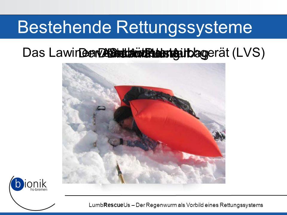 Bestehende Rettungssysteme