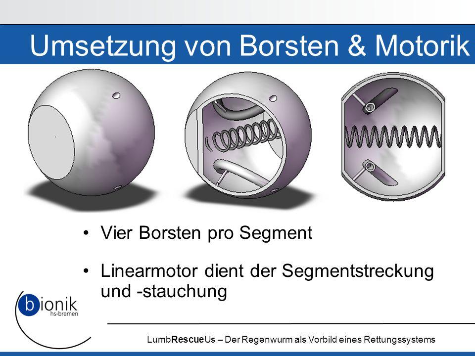 Umsetzung von Borsten & Motorik