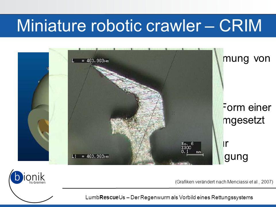 Miniature robotic crawler – CRIM