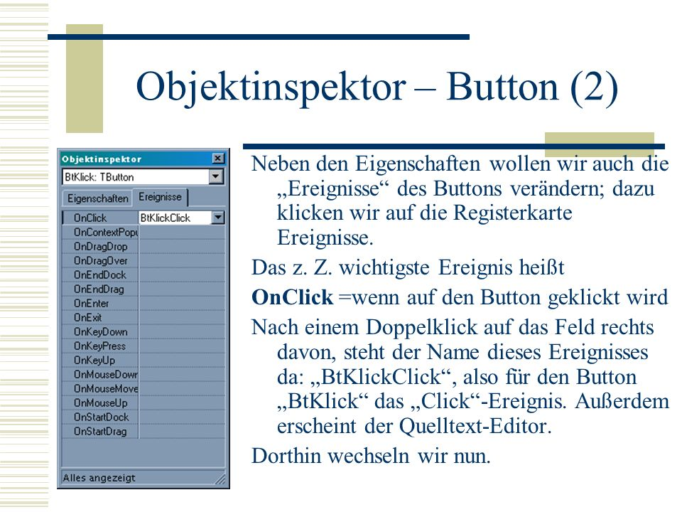 Objektinspektor – Button (2)