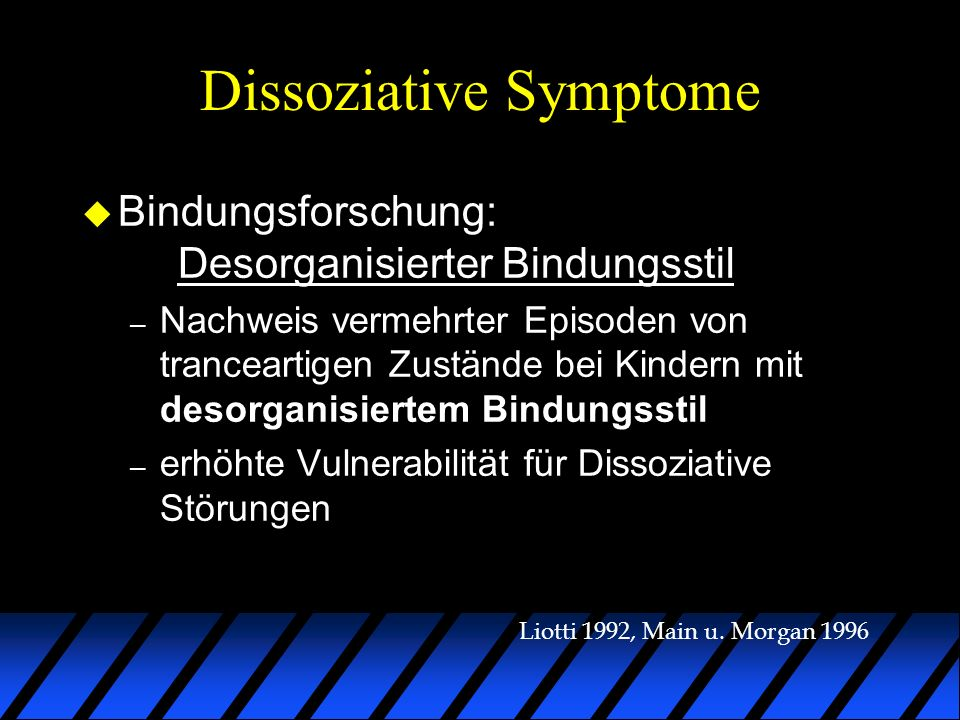 Dissoziative Symptome