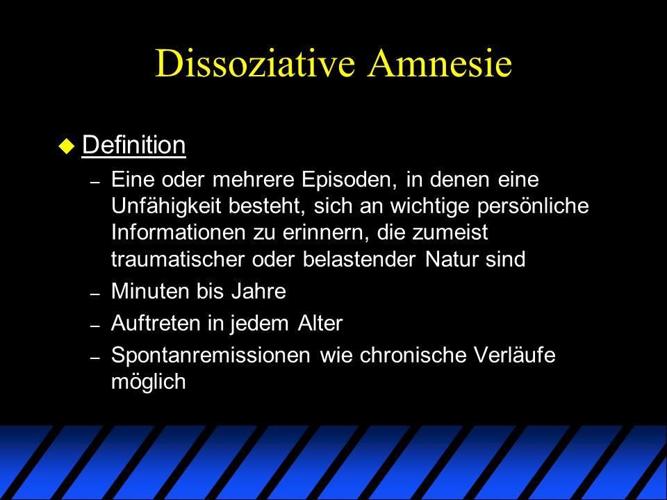 Dissoziative Amnesie Definition