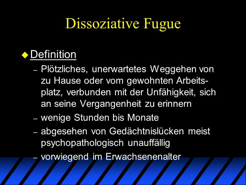 Dissoziative Fugue Definition