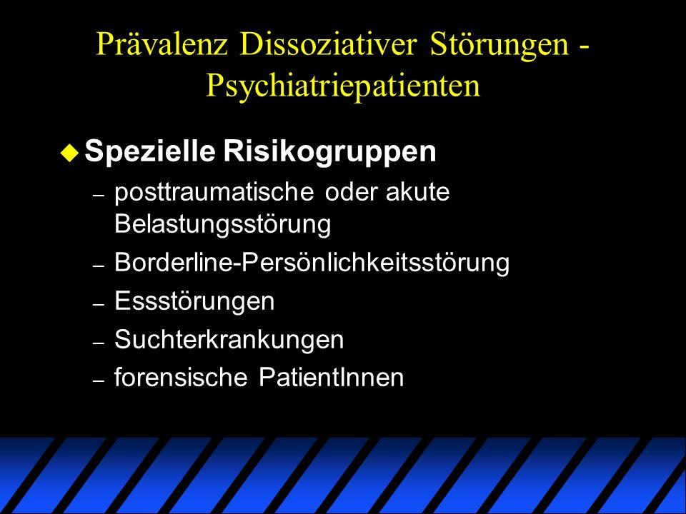 Prävalenz Dissoziativer Störungen - Psychiatriepatienten