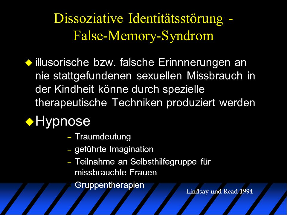 Dissoziative Identitätsstörung - False-Memory-Syndrom