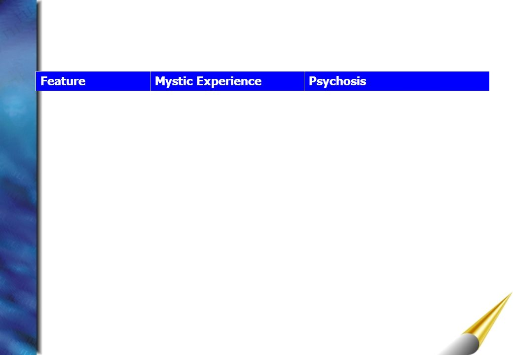 Feature Mystic Experience Psychosis