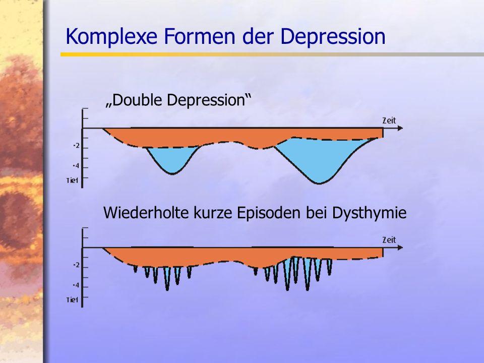 Komplexe Formen der Depression