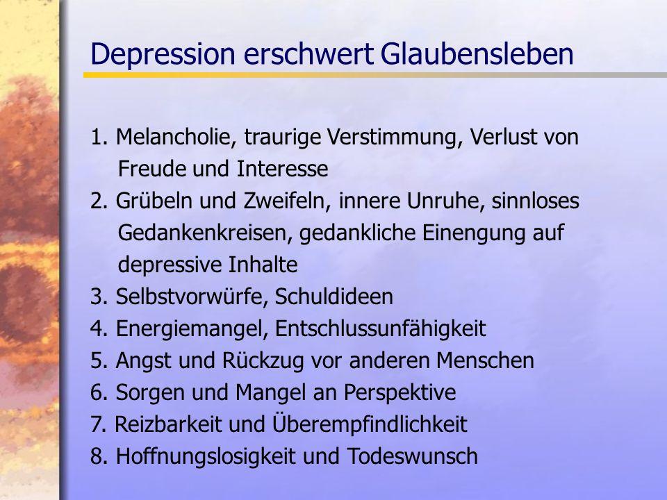 Depression erschwert Glaubensleben