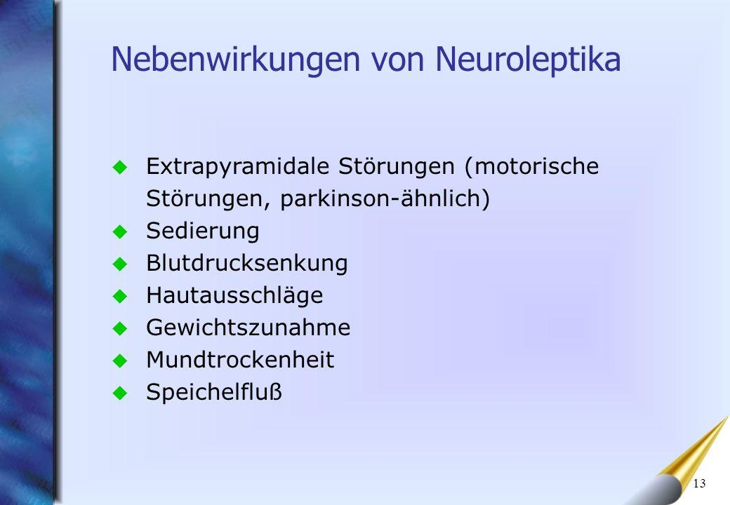 Nebenwirkungen von Neuroleptika