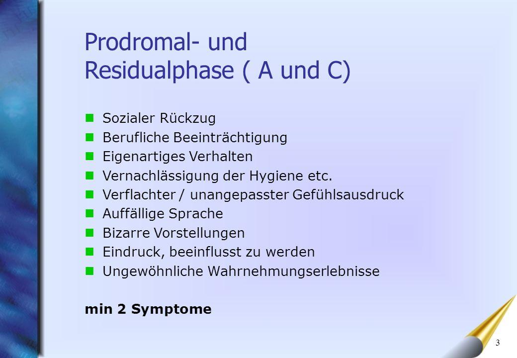 Prodromal- und Residualphase ( A und C)