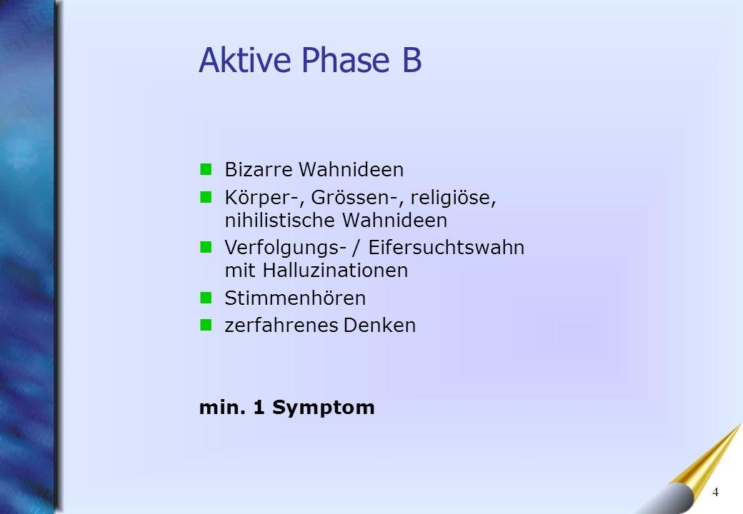Aktive Phase B Bizarre Wahnideen