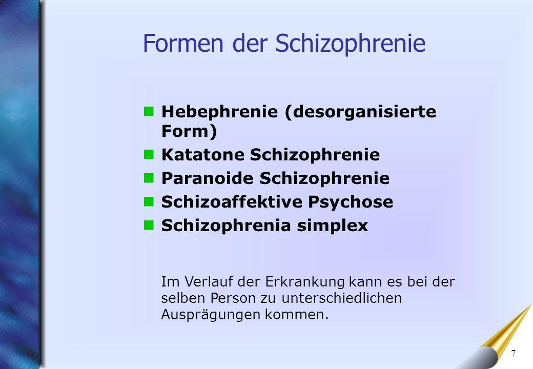 Formen der Schizophrenie