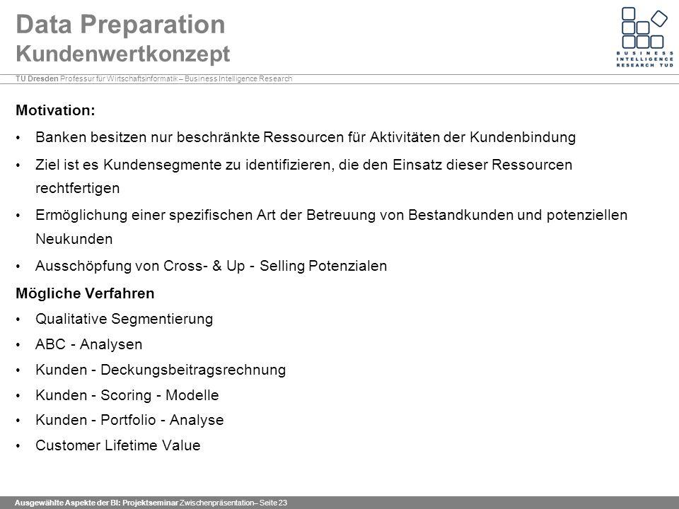 Data Preparation Kundenwertkonzept
