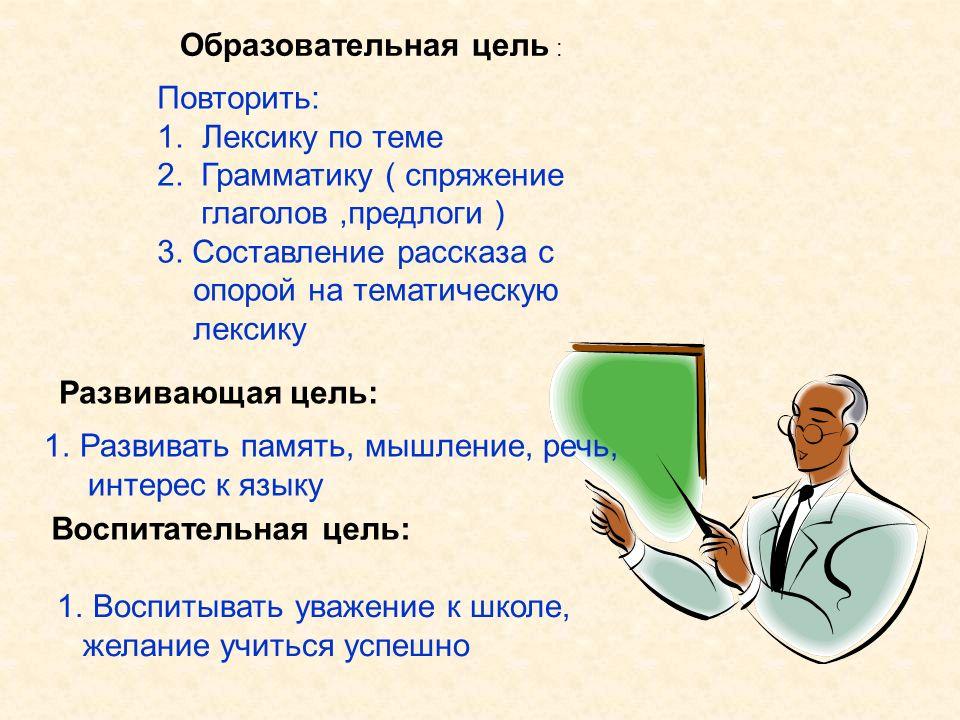 Образовательная цель :