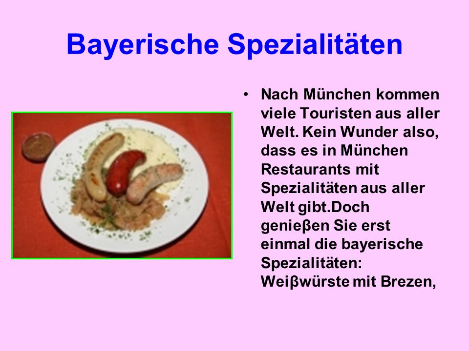 Bayerische Spezialitäten