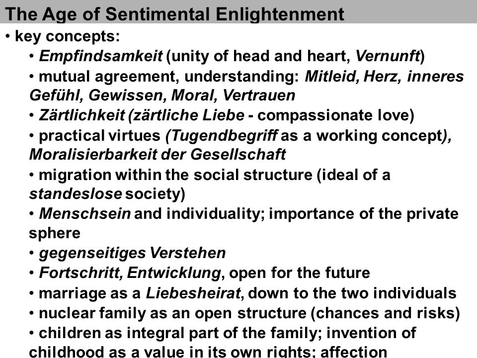 The Age of Sentimental Enlightenment