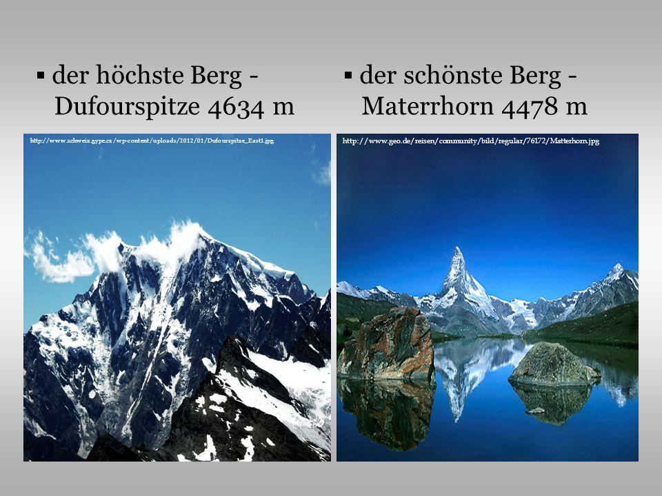 der höchste Berg - Dufourspitze 4634 m der schönste Berg -