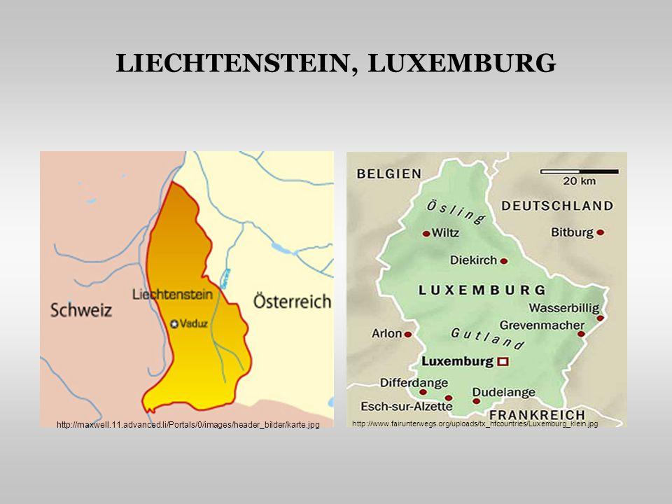 LIECHTENSTEIN, LUXEMBURG