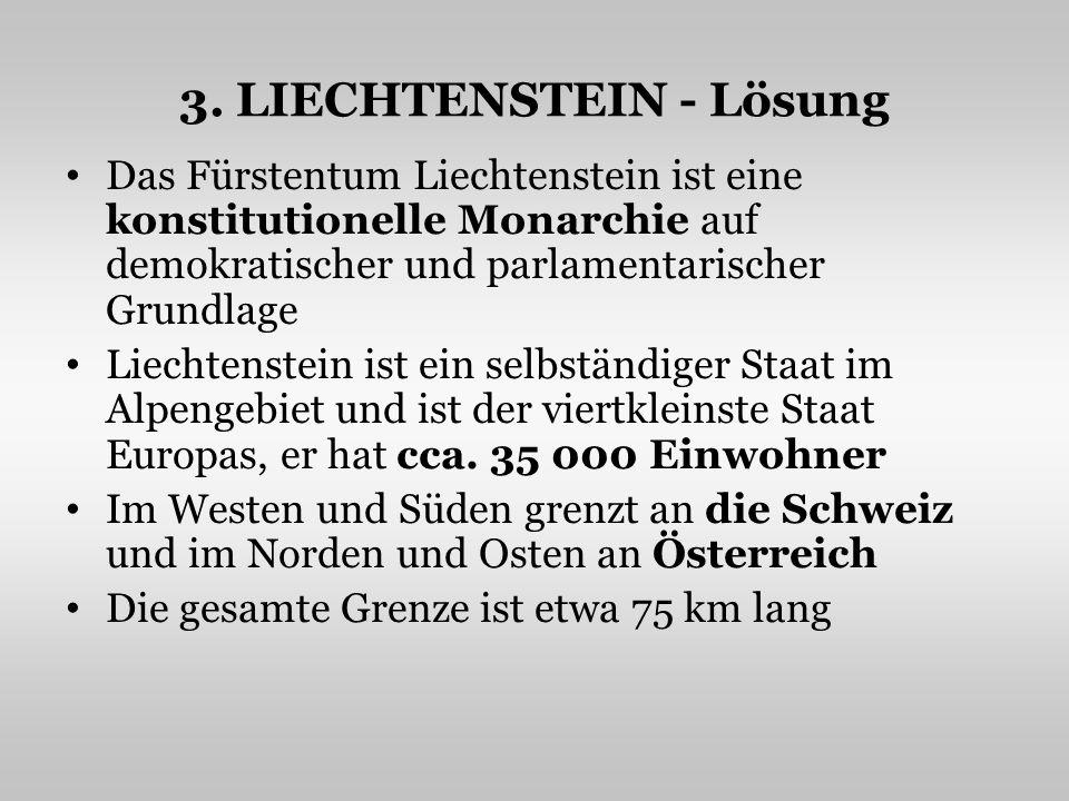 3. LIECHTENSTEIN - Lösung