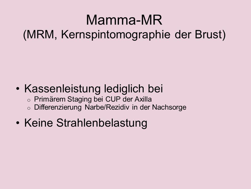 Mamma-MR (MRM, Kernspintomographie der Brust)