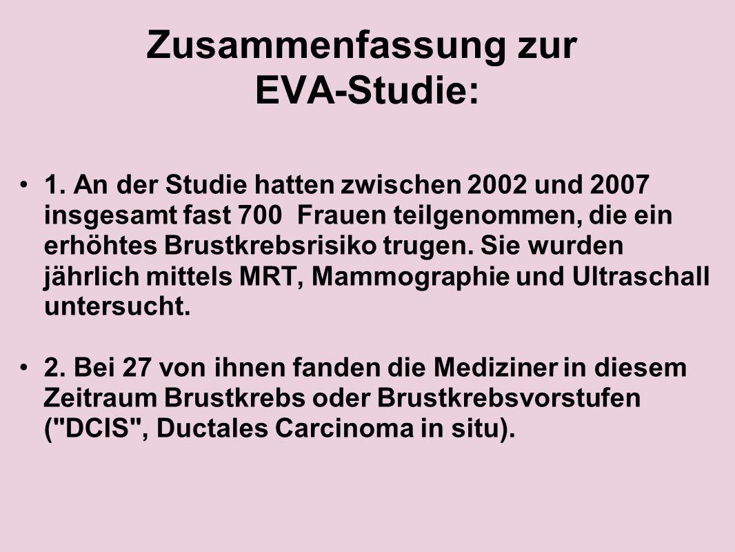 Zusammenfassung zur EVA-Studie:
